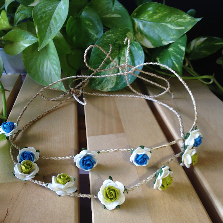 Blue Floral Headband by Style Me Pretty