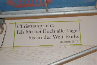 Photo: der neue Spruch. Erste Phase Grundschrift