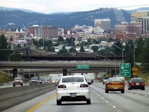 Photo: Driving into downtown Spokane.