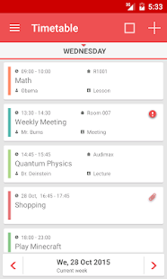 TimeTable++ Schedule Screenshot