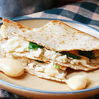 Butter Bean and Spinach Quesadilla