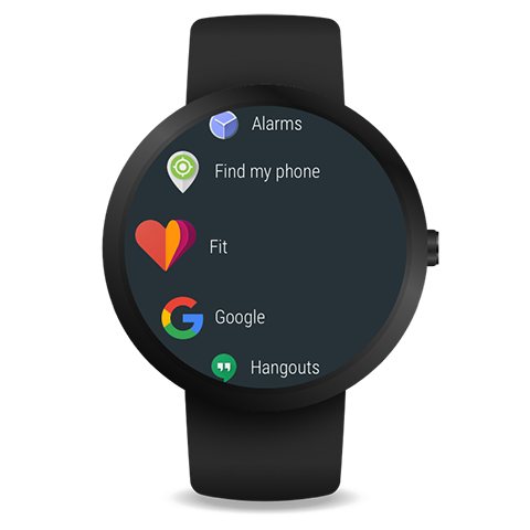 Android Wear - Smartwatch: captura de pantalla
