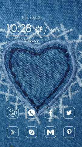 android Heart Shaped Embroidery Screenshot 0