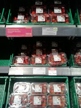 Photo: And 50% off British strawberries. Waitrose have great fresh fruit and veg, and a lot of is British. I get strawberries every week for general eating/fruit salads, but for Wimbledon week this week I got a second box for strawberries and cream!