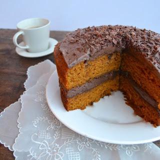 PUMPKIN CAKE W/ MEXICAN CHOCOLATE WHIPPED CREAM