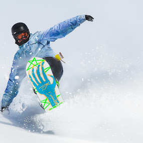Flying by Michael Spain - Sports & Fitness Snow Sports ( winter, snow, snowboarder )