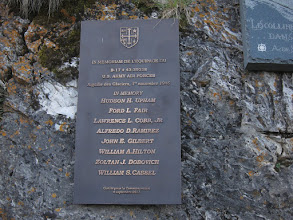 Photo: Along the trail: Memorial to crew of a B17 Flying Fortress that crashed near here in 1946