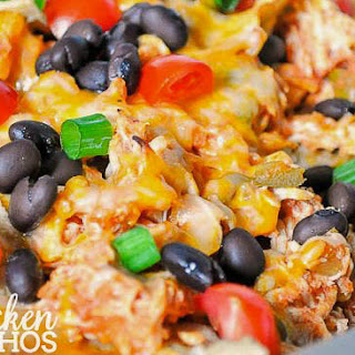 Festive Chicken Taco Nachos