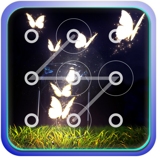 个人化の蝶ネオン  ロック画面 LOGO-記事Game