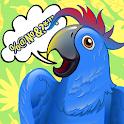 Tease talking parrot icon