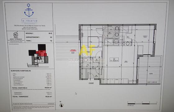 Vente appartement 2 pièces 60,58 m2