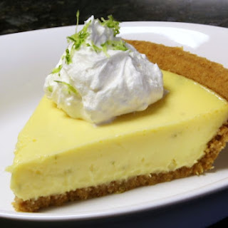 Key Lime Pie With Meringue or Cream Topping.
