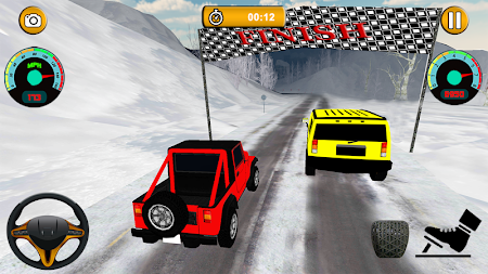 Offroad Jeep - Extreme Mountain Snow Driving APK screenshot thumbnail 7