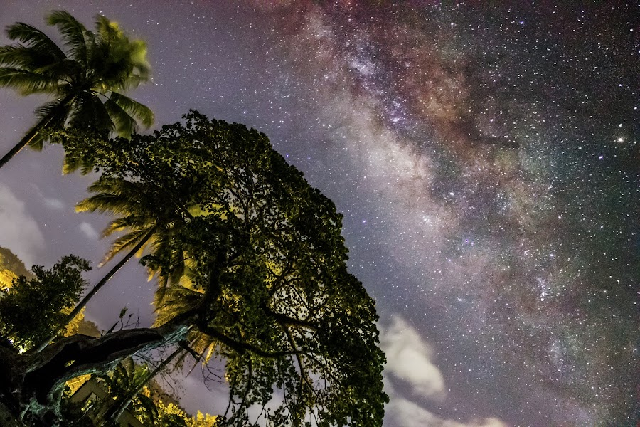 Heaven made for Earth, as Earth made for Man by Gilbert Sanchez - Landscapes Starscapes ( milkyway, heavenly, heaven, stars, star, stargazer, heavenly bodies, heaven and earth, milky way, galaxy, relax, tranquil, relaxing, tranquility )