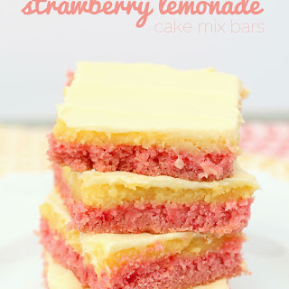 Strawberry Lemonade Cake Mix Bars.