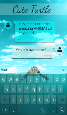 Cute Turtle Animated Keyboard - screenshot