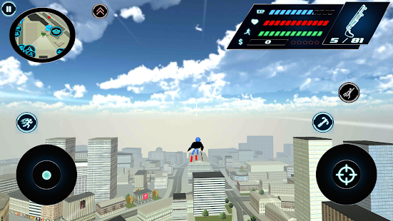 Download Flying Speed Stickman Rope hero Gangaster Crime For PC Windows and Mac apk screenshot 2