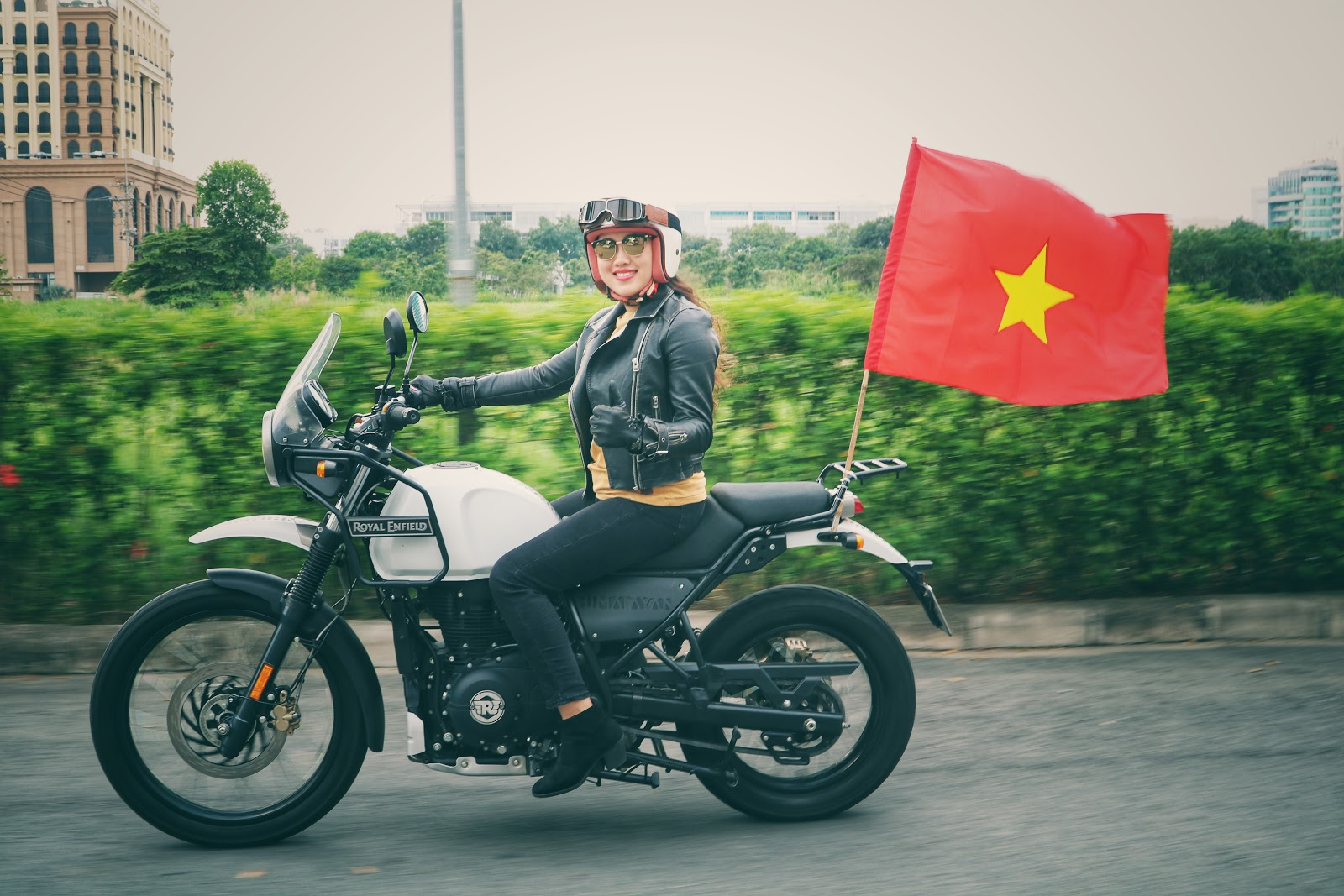 Everyone drives including Saigon Lady Riders