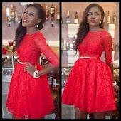 9ja Lace Short Gown Styles.