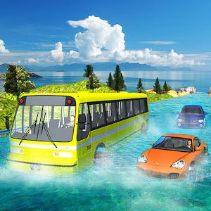 Tải Floating Water Coach Bus Traffic Race APK