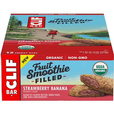 Clif Bar Fruit Smoothie Filled Bars: Strawberry Banana, Box of 12