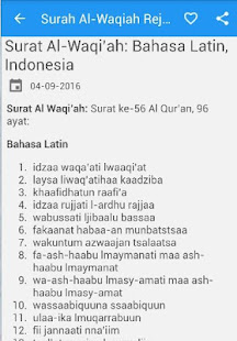 App Surah Al Waqiah Arab Latin Apk For Windows Phone