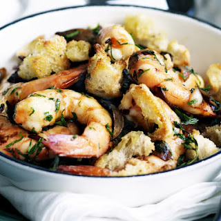 Baked Shrimp with Sourdough Croutons