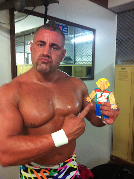 "Photo: Flat Stanley w/ ""Ravishing"" Ryan Kross 1/2 of Midnight Express Reboot in Whiting, IN"