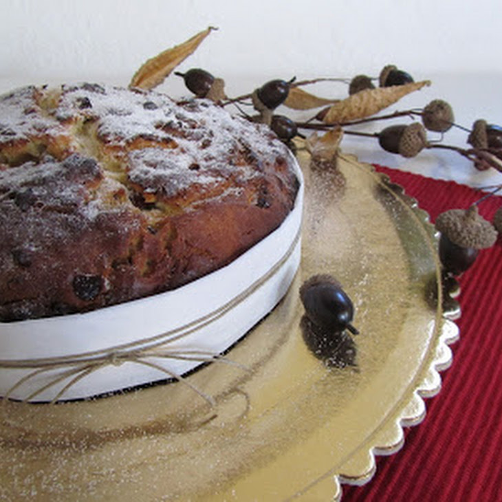 Chocolate, Cranberry, and Pistachio Panettone
