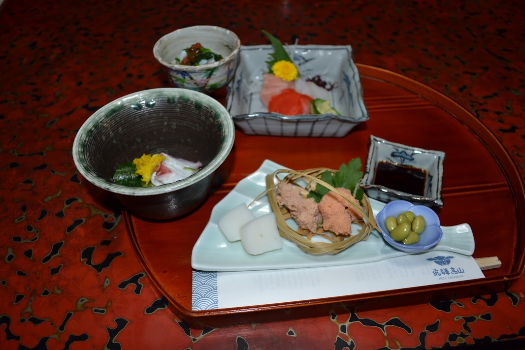 Dinner at Sumiyoshi Ryokan