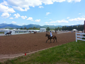 Photo: Equestrian workout in Lake Placid NY