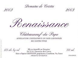 Logo for Domaine de Cristia Cuvee Renaissance Chateauneuf-du-Pape