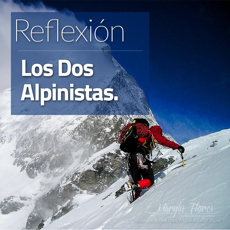 Reflexión los dos Alpinistas