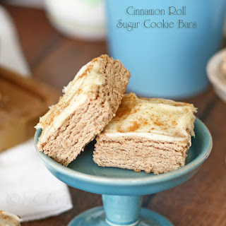 Cinnamon Roll Sugar Cookie Bars.