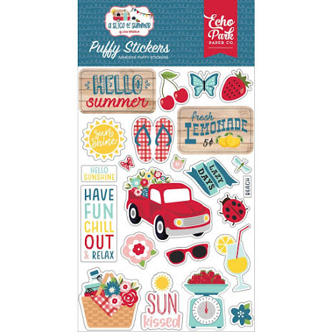Echo Park Puffy Stickers - A Slice Of Summer