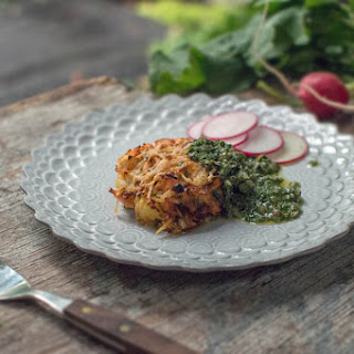 Pink Snapper & Potato Cakes With Salsa Verde