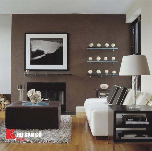 Sàn gỗ công nghiệp với màu sắc trong trang trí nội thất