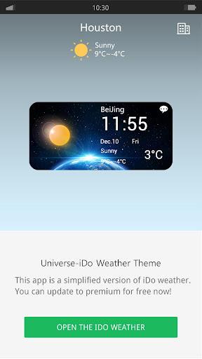 Universe - iDO Weather widget
