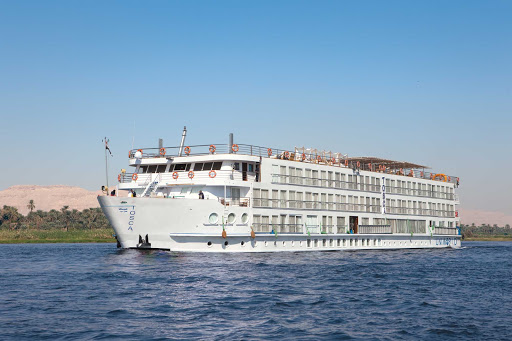 river-tosca-exterior.jpg - The 82-passenger River Tosca sails Nile River itineraries for Uniworld.