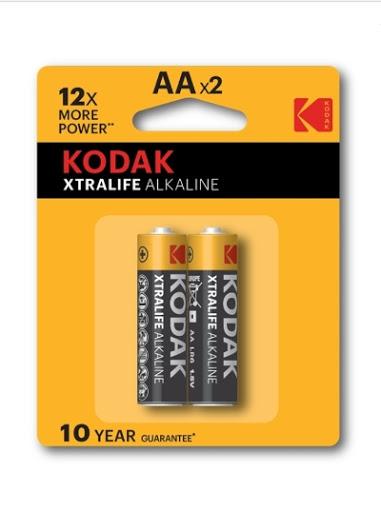 bateria kodak alcalina extralife aa 2und