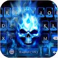 Flaming Skull Keyboard Theme download