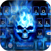 Flaming Skull Keyboard Theme