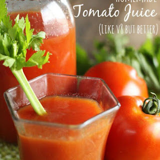 Homemade Tomato Juice.