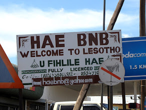 Photo: Border crossing in Maputsoe
