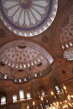 Photo: Mėlynosios mečetės skliautai.   Blue mosque vaults.