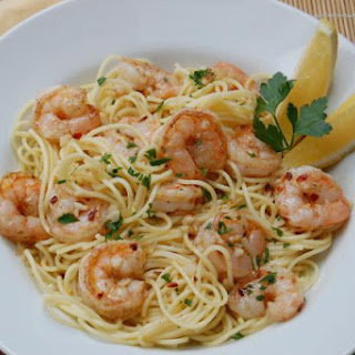 Garlic Lemon Shrimp with Pasta