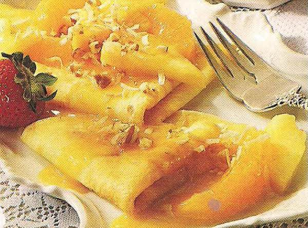 Pineapple Orange Crepes Recipe
