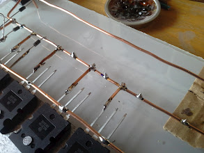 Photo: Wett your contact points ahead . You don't want to heat up your devices too much. This way it's almost touch^release. Keep in mind copper wire absorbs and distribute heat like mad.