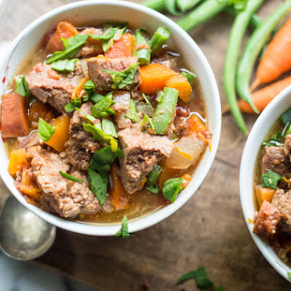 Slow Cooker Almond Butter Beef Stew.