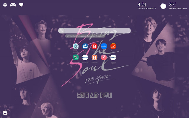 BTS Bring The Soul Kpop New Tab Wallpaper HD